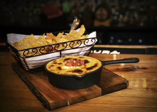 QUESO FUNDIDO WITH CHORIZO & Tortilla Chips