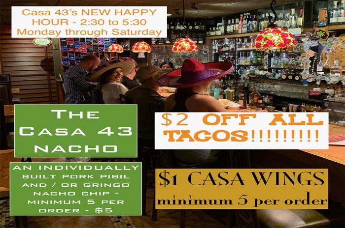 Casa 43's New Happy Hours